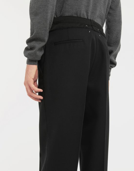MAISON MARGIELA Spliced waistband pants Trousers [*** pickupInStoreShippingNotGuaranteed_info ***] b