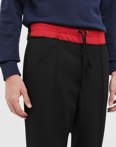 PANTS Spliced waistband pants