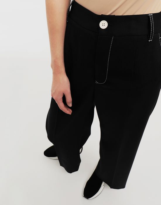 MM6 MAISON MARGIELA Casual wool-blend pants Casual pants [*** pickupInStoreShipping_info ***] a