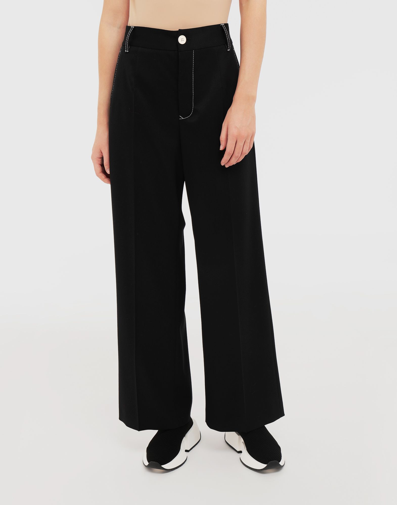 MM6 MAISON MARGIELA Casual wool-blend pants Casual pants Woman r