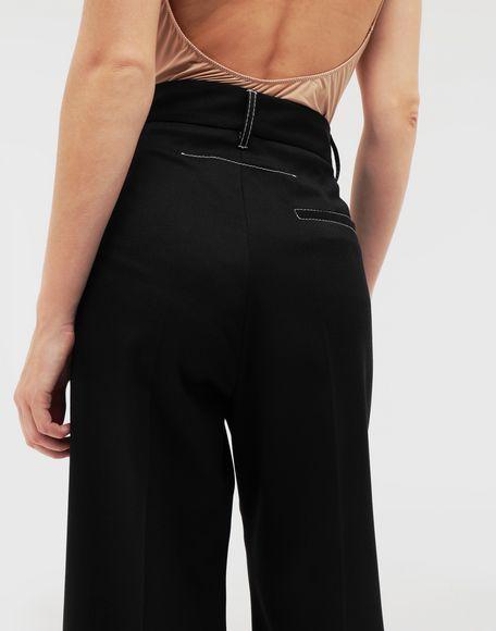 MM6 MAISON MARGIELA Casual wool-blend pants Casual pants Woman b