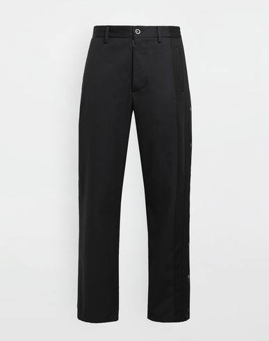MAISON MARGIELA Trousers [*** pickupInStoreShippingNotGuaranteed_info ***] Spliced gabardine pants f