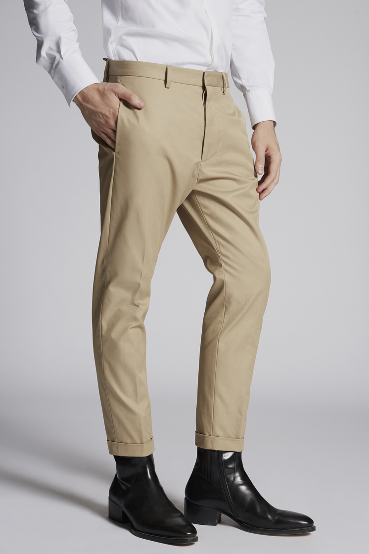 DSQUARED2 Cotton Twill Hockney Pants Брюки Для Мужчин