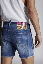DSQUARED2 Acid Green Spots Squared Crotch Shorts Shorts Man