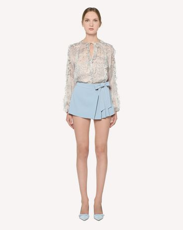REDValentino Stretch Frisottine shorts with dotted line embroidery