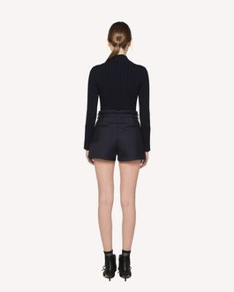 REDValentino Tricotine Tech shorts with buckle detail