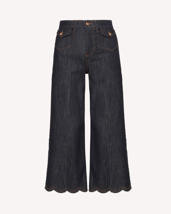 REDValentino Scallop detail denim pants