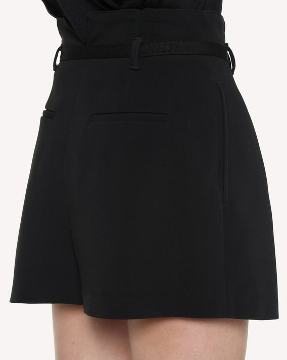 REDValentino Stretch Frisottine shorts with buckle detail