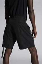 DSQUARED2 Nylon Taffetà Dan Elastic Boxer Shorts Shorts Man