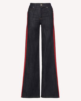 REDValentino Denim trousers with side stripes