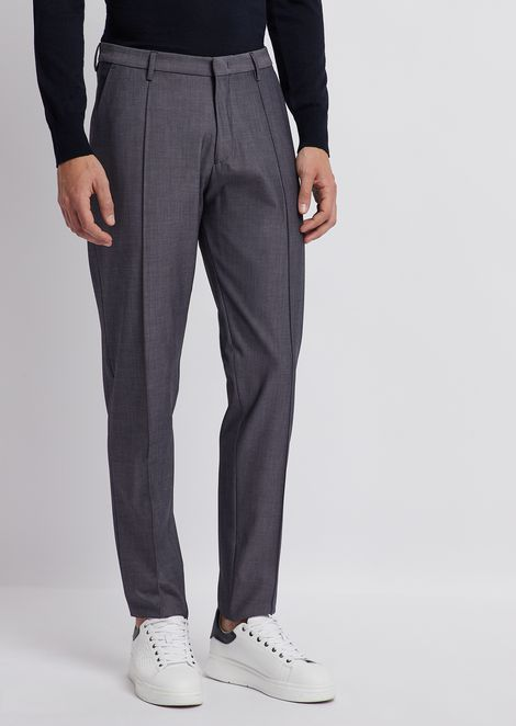 Stretch tech wool pants
