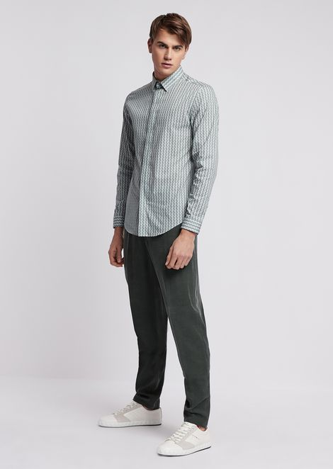 Chino trousers in smooth finish tencel