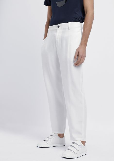 Chino pants in smooth finish tencel