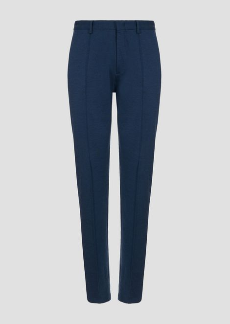 Overdyed stretch jersey trousers