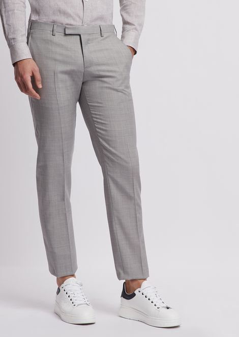 Cool wool trousers with pleats