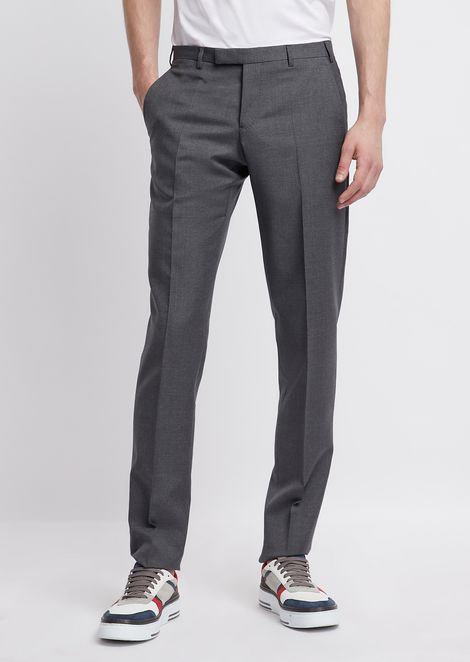 Cool wool pants with pleats