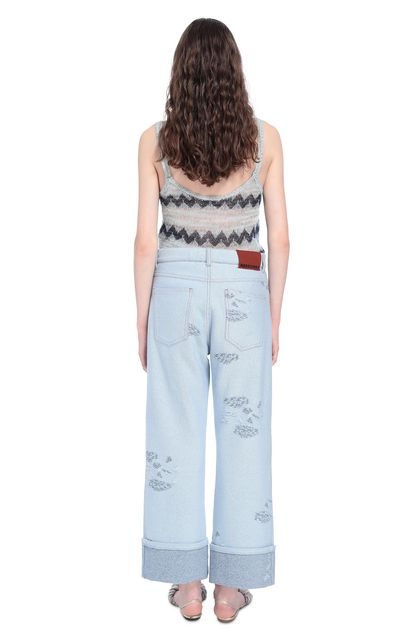 MISSONI Pants Sky blue Woman - Front
