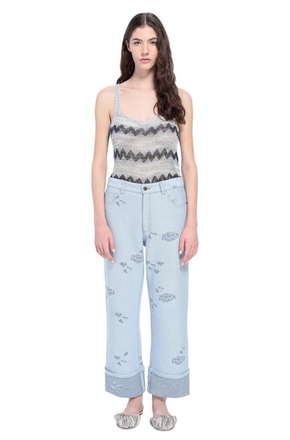 MISSONI Trouser Sky blue Woman - Back