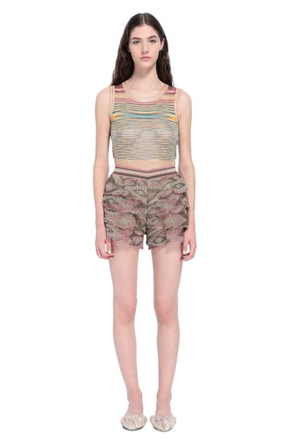 MISSONI Shorts Pink Woman - Back