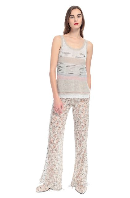 MISSONI Pants Beige Woman - Back
