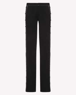 REDValentino Wool gabardine trousers with snap buttons