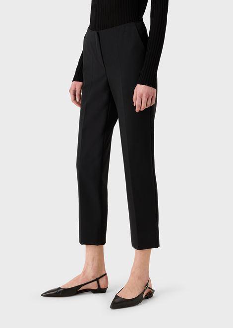Pantalones cropped de algodón puro