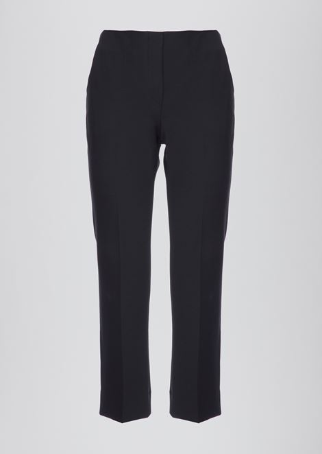 Cropped pants in pure cotton