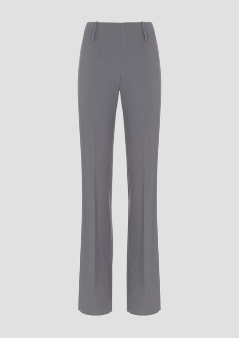 Flared crepe pants