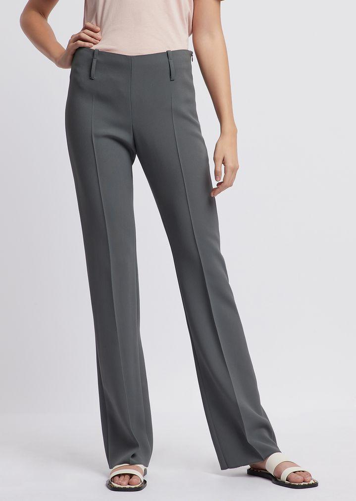 effbc444144153 Flared crepe pants | Woman | Emporio Armani