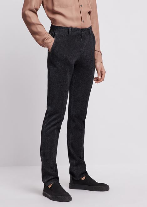 Trousers in ultralight jersey