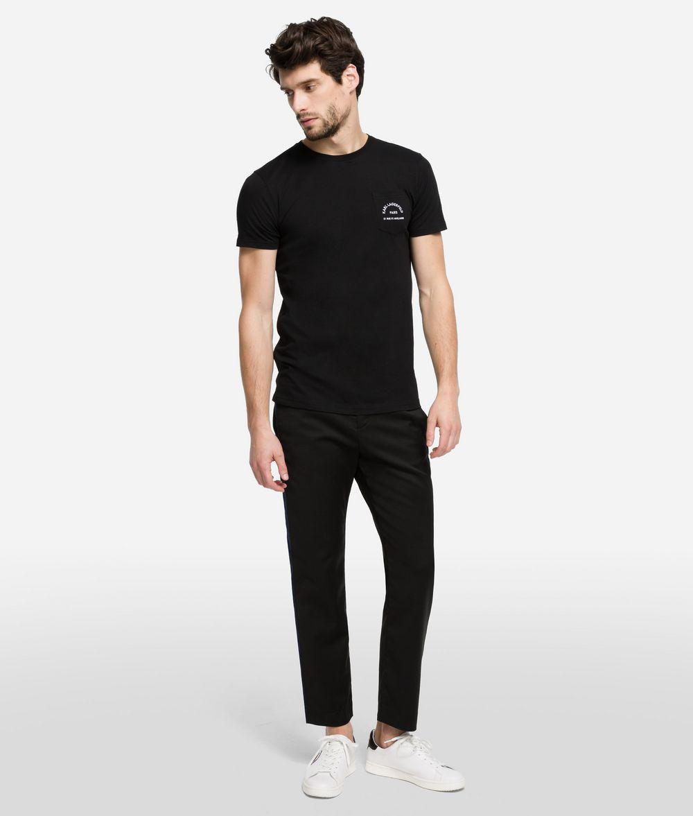 KARL LAGERFELD Wool Chinos with Side Stripe Pants Man f