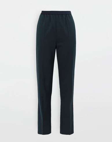PANTS Pleated wool-blend pants