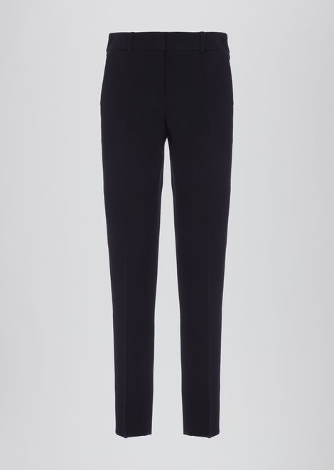 4a9991c227 Cropped pants in textured fabric | Woman | Emporio Armani