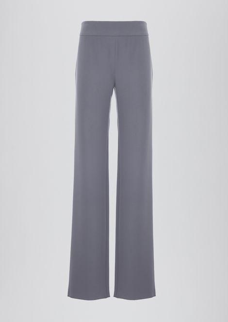 Crepe palazzo trousers
