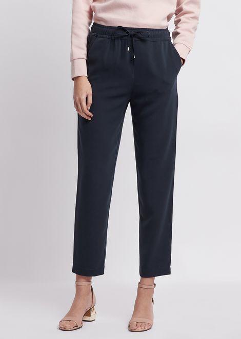 Pantalon en cady avec cordon de serrage à la taille 1552fb5fa70