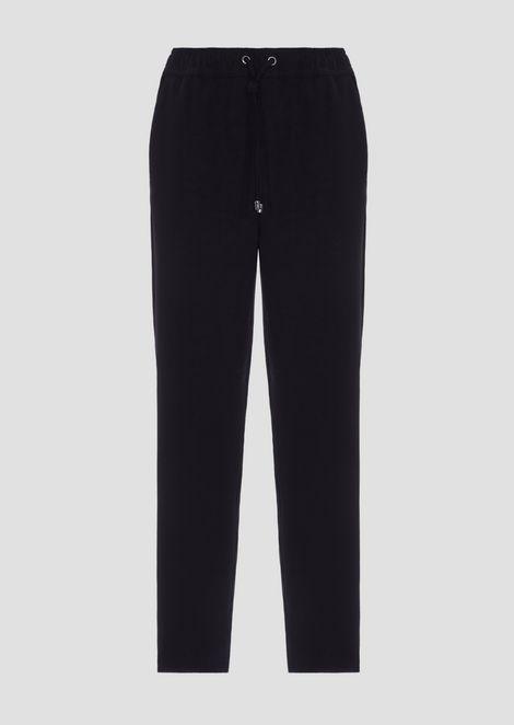 Drawstring-waist cady pants