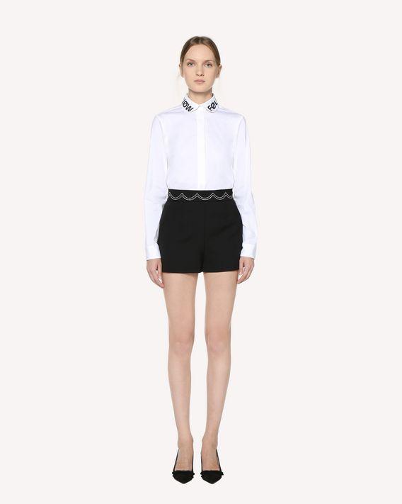 REDValentino 缝线细节科技卡迪短裤