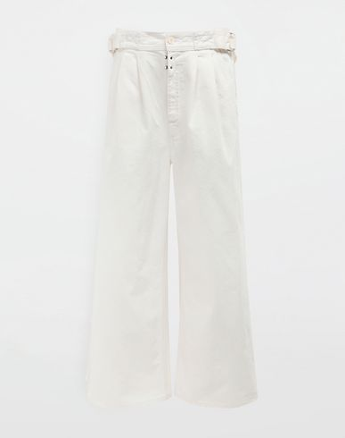 MM6 MAISON MARGIELA Casual pants [*** pickupInStoreShipping_info ***] Belted wide-leg pants f
