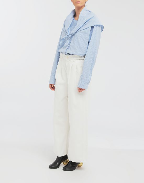 MM6 MAISON MARGIELA Belted wide-leg pants Casual pants [*** pickupInStoreShipping_info ***] d