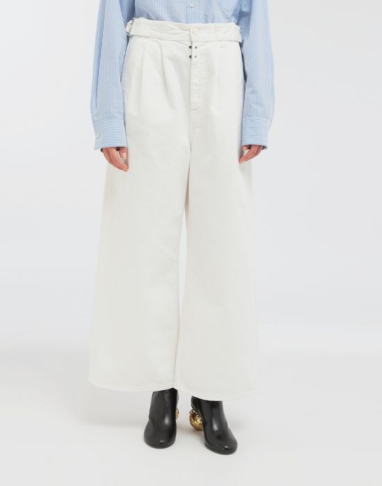MM6 MAISON MARGIELA Belted wide-leg pants Casual pants [*** pickupInStoreShipping_info ***] r