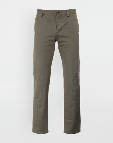 MAISON MARGIELA Casual pants [*** pickupInStoreShippingNotGuaranteed_info ***] Classic straight-leg cotton pants f