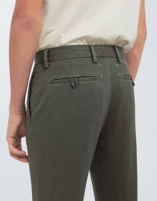 MAISON MARGIELA Classic straight-leg cotton pants Trousers [*** pickupInStoreShippingNotGuaranteed_info ***] b