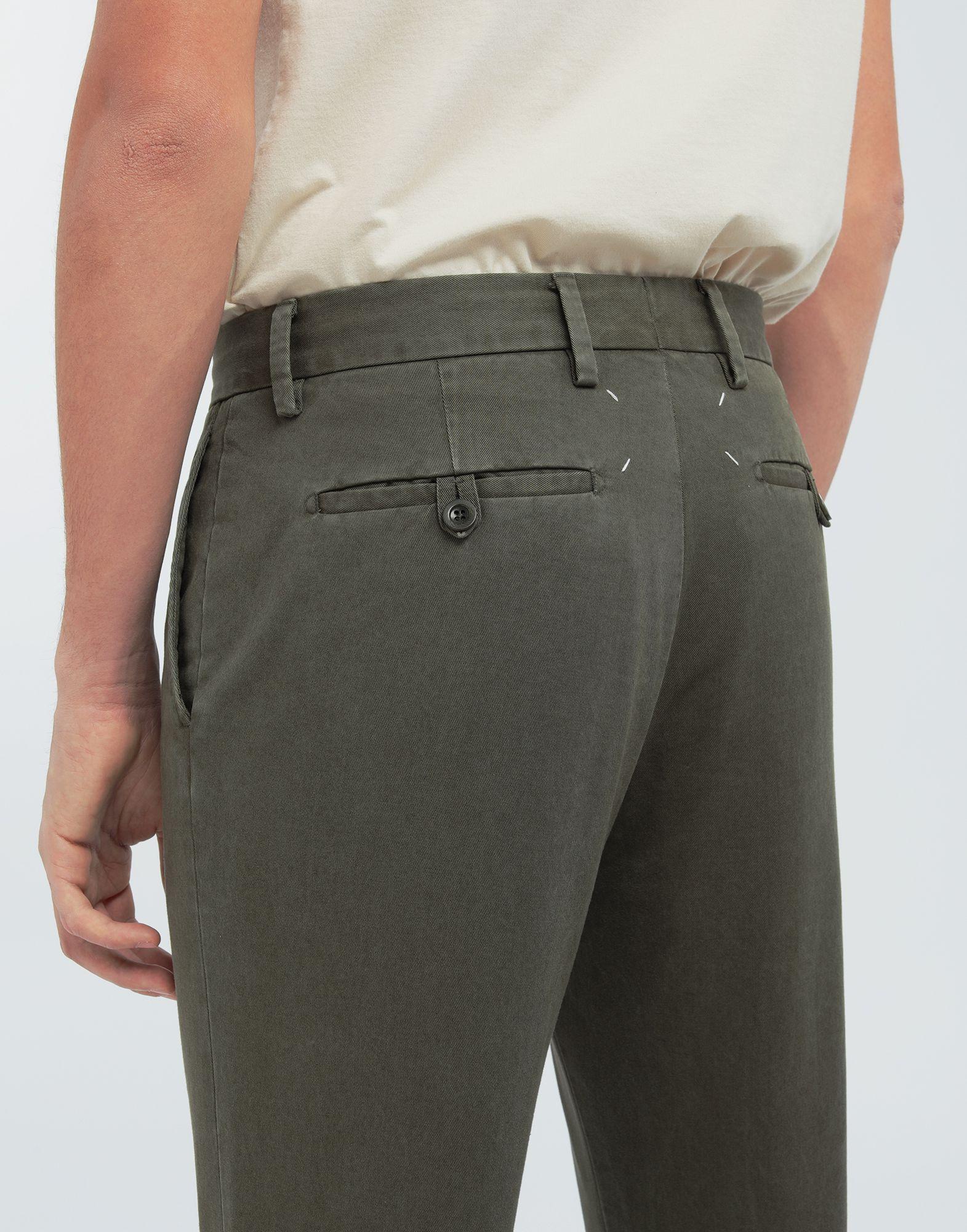 MAISON MARGIELA Classic straight-leg cotton pants Casual pants Man b