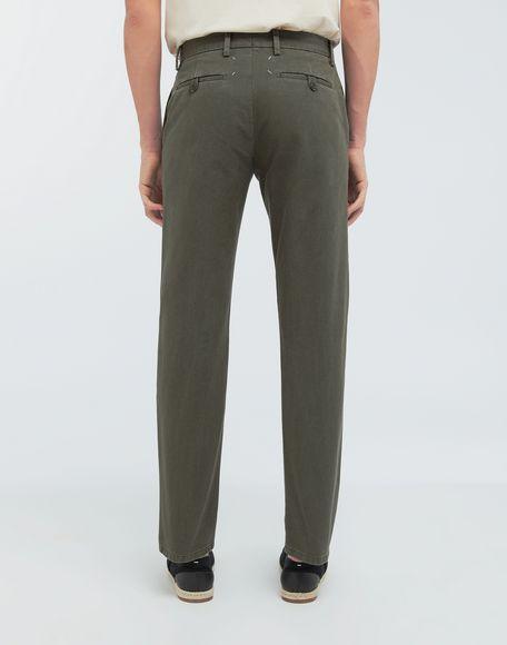 MAISON MARGIELA Classic straight-leg cotton pants Casual pants Man e