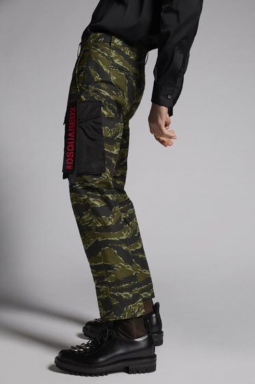 DSQUARED2 Camouflage Hockney Pants Trousers Man