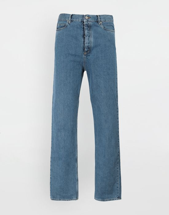 MAISON MARGIELA Décortiqué wide-leg denim pants Jeans [*** pickupInStoreShippingNotGuaranteed_info ***] f