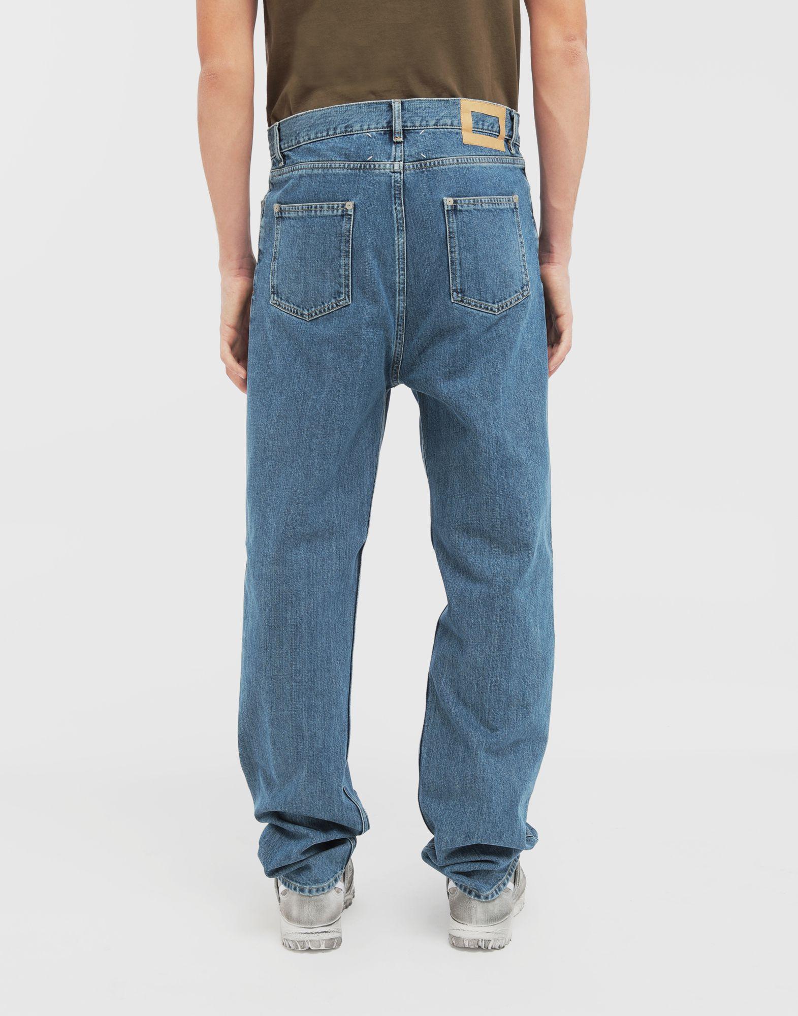 MAISON MARGIELA Décortiqué wide-leg denim pants Jeans Man e