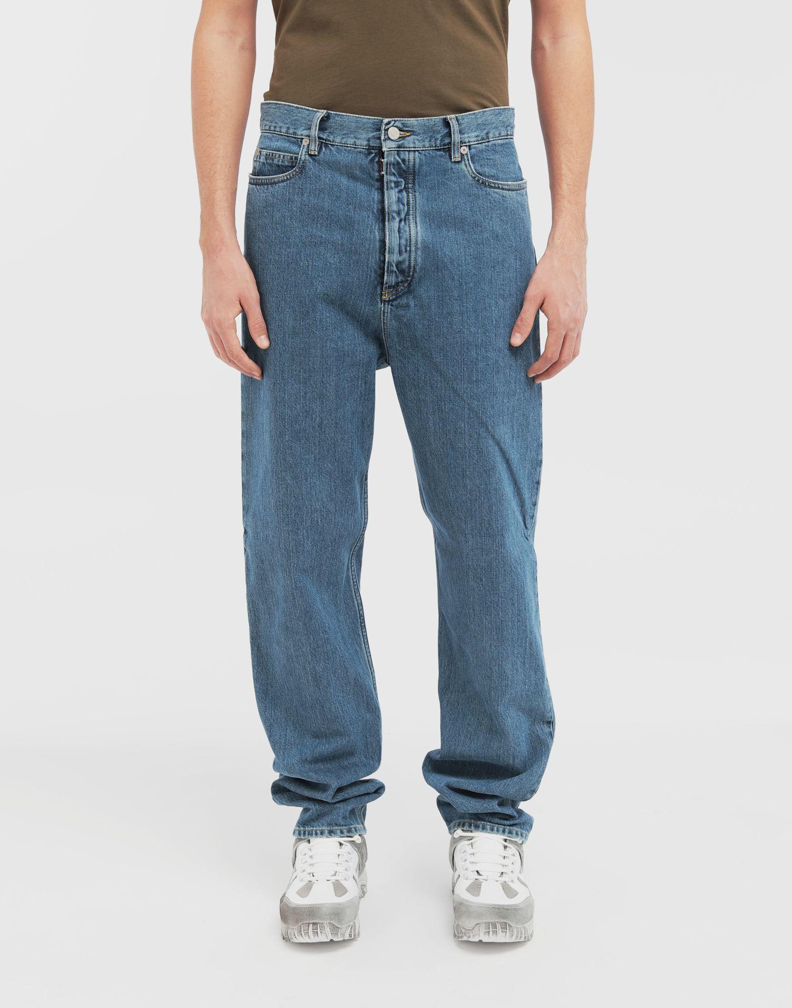 MAISON MARGIELA Décortiqué wide-leg denim pants Jeans Man r