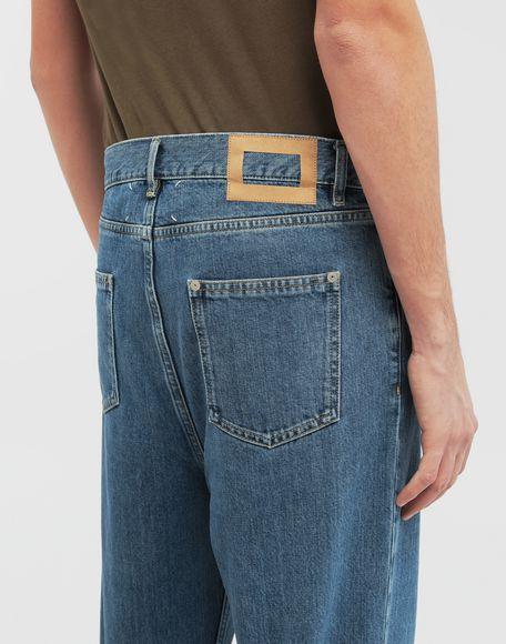 MAISON MARGIELA Décortiqué wide-leg denim pants Jeans Man b