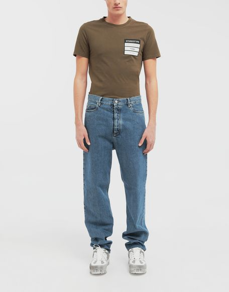 MAISON MARGIELA Décortiqué wide-leg denim pants Jeans Man d